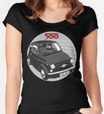 Fiat 500F black Women's Fitted Scoop T-Shirt