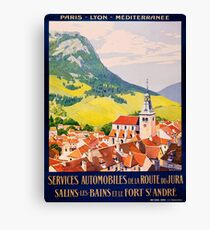 Services Automobiles, French Travel Poster Canvas Print