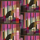 """Brown & Pink Abstract"" by kcd-designs"