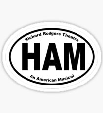 Hamilton Oval Sticker Sticker