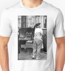 B&W - Baker with Oven in the Street Unisex T-Shirt