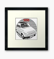 Fiat 500F white Framed Print