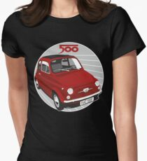 Fiat 500F red Women's Fitted T-Shirt