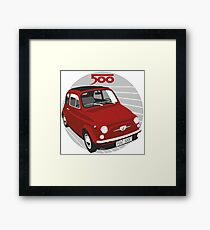 Fiat 500F red Framed Print