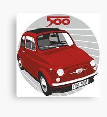 Fiat 500F red Canvas Print