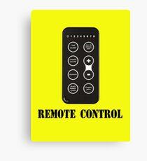 Remote Control Canvas Print