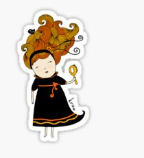 Virgo girl Sticker