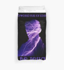 Nikola Tesla one Duvet Cover
