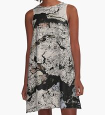 Rocky Mountain Wall Pattern A-Line Dress