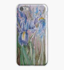 Irises, vibrant watercolour iPhone Case/Skin