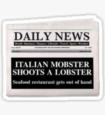 Mobster Lobster Sticker