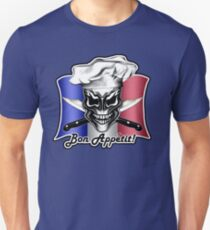 French Chef Skull 1: Bon Appetit! Unisex T-Shirt