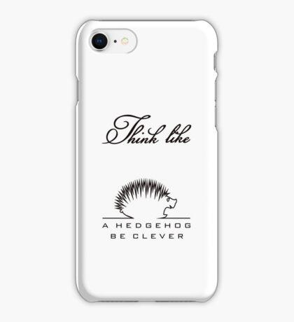 Think like a Hedgehog VRS2 iPhone Case/Skin