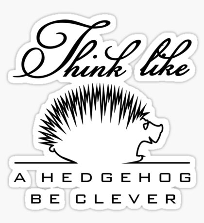 Think like a Hedgehog VRS2 Sticker