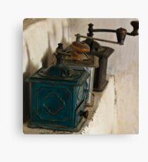 Old coffee grinders Canvas Print