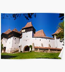 Viscri Fortified Church, Transylvania, UNESCO heritage Poster