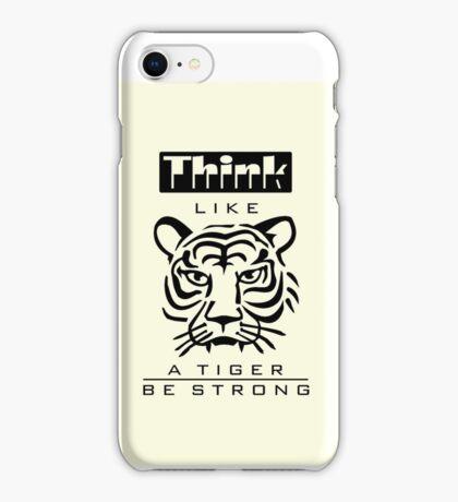 Think like a Tiger VRS2 iPhone Case/Skin