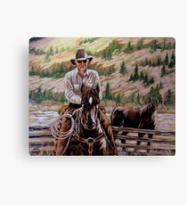 The $12.00 Resistol And Pecos Canvas Print