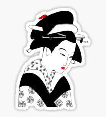 Japanese Geisha Art Sticker