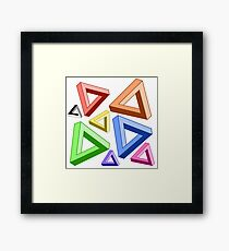 Impossible Triangle Love. Framed Print