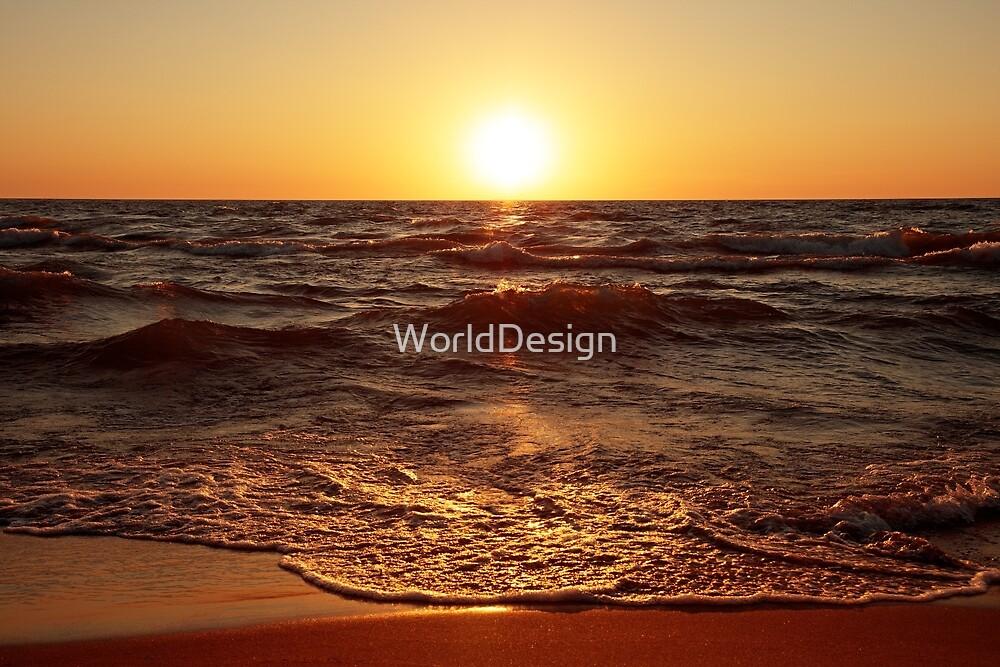 Lake Michigan Sunset by WorldDesign