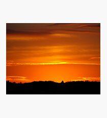 Orange and Gold Photographic Print