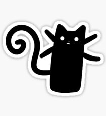 Teeny Tiny Black Cat Sticker