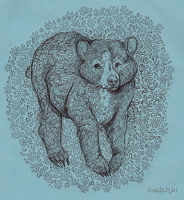 Floral Bear  by thesickgirl