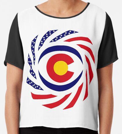 Coloradan Murican Patriot Flag Series Chiffon Top