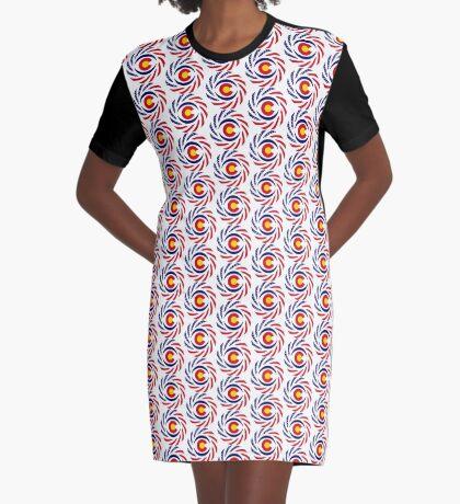 Coloradan Murican Patriot Flag Series Graphic T-Shirt Dress