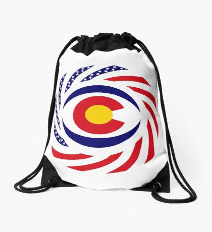 Coloradan Murican Patriot Flag Series Drawstring Bag