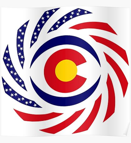 Coloradan Murican Patriot Flag Series Poster