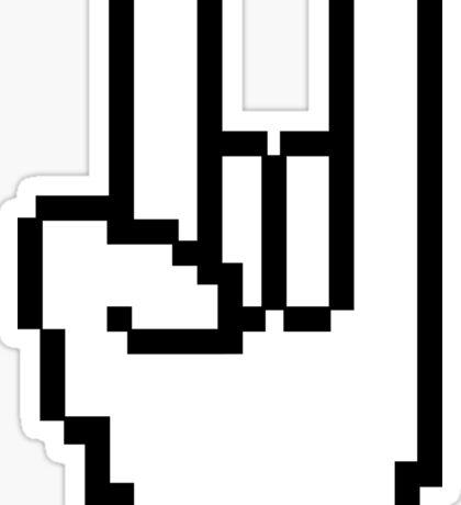 8-bit Rock Sign Sticker