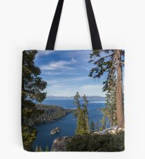 High Above Emerald Bay Tote Bag