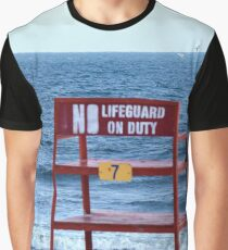 No Lifeguard on Duty Graphic T-Shirt