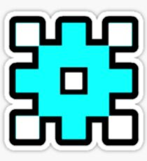 Geometry Dash - Back on Track Cube Sticker