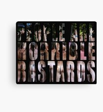 horrible Canvas Print