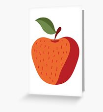 Elegant and Cool Apple Vector Design Greeting Card