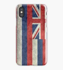 State Flag of Hawaii,  retro style vintage 1-2 scale version iPhone Case