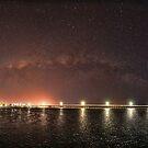 Milky Way over Urangan Pier by Peter Doré