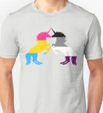 Panromantic Ace Pride Unicorns T-Shirt