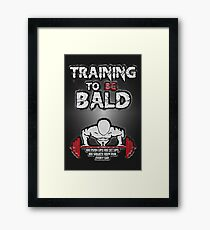 Training to be bald Framed Print