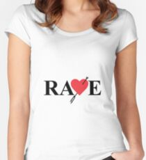 Catherine - Vincent Brooks RAVE Logo Women's Fitted Scoop T-Shirt