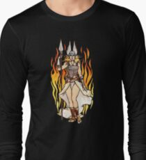 brunhilde pin-up Long Sleeve T-Shirt