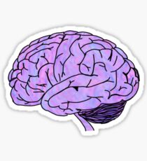 purple pink blue brain Sticker