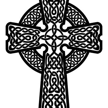 Celtic Cross in black by chromedreaming