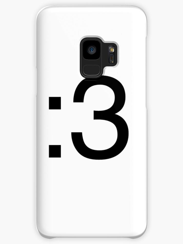 Cat Face Emoji Emoticon Black Cases Skins For Samsung Galaxy By