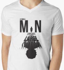 A Small Man's Shadow Men's V-Neck T-Shirt
