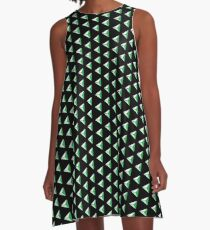 Magic Of Tri - Spearmint - Black A-Line Dress