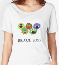 #Brazil #Olympics2016 #Rio Women's Relaxed Fit T-Shirt